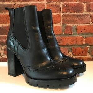 ZARA Black Oxford Boots [Size 7]